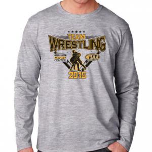 team wrestling long sleeve