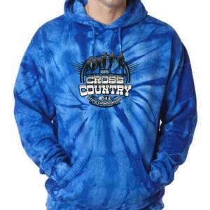 cc tie dye hoodie royal
