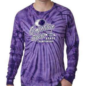 Spirt Tye Dye Purple Long Sleeve